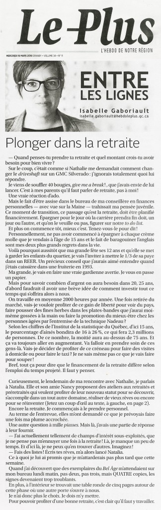 second souffle - article billet journal le plus 2016